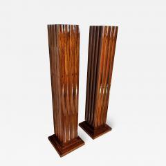 Dominique Pair Fine Art Deco Palisander Pedestals Dominique - 749132