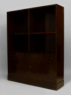 Dominique Pair of French Art Deco Calamander Wood Bookcase Cabinets - 465177