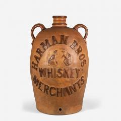 Donaghho Son Harman Brothers Whiskey Merchants Stoneware Cooler - 1373337
