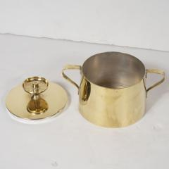 Dorlyn Silversmiths Tommi Parzinger for Dorlyn Silversmiths Coffee Tea Service in Brass and Walnut - 1560943