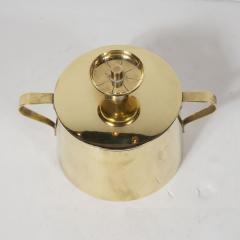Dorlyn Silversmiths Tommi Parzinger for Dorlyn Silversmiths Coffee Tea Service in Brass and Walnut - 1560961