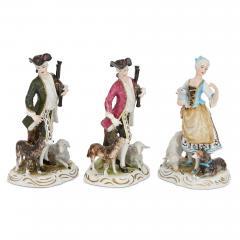 Dresden Porcelain Set of twelve Dresden porcelain figures and groups - 1274655
