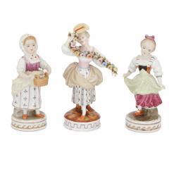 Dresden Porcelain Set of twelve Dresden porcelain figures and groups - 1274657