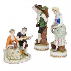 Dresden Porcelain Set of twelve Dresden porcelain figures and groups - 1274658