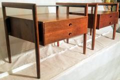 Drexel Drexel Heritage Furniture Pair of Walnut End Tables from the Parallel Line for Drexel 1960s - 1813178