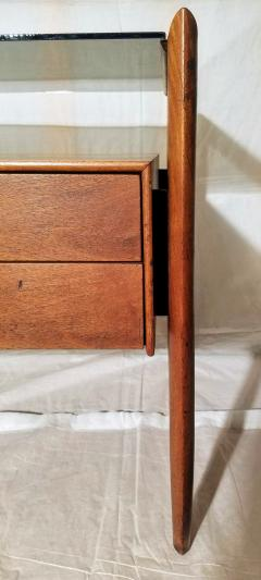 Drexel Drexel Heritage Furniture Pair of Walnut End Tables from the Parallel Line for Drexel 1960s - 1813183