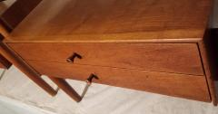 Drexel Drexel Heritage Furniture Pair of Walnut End Tables from the Parallel Line for Drexel 1960s - 1813185