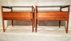 Drexel Drexel Heritage Furniture Pair of Walnut End Tables from the Parallel Line for Drexel 1960s - 1813187