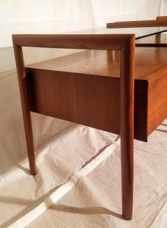 Drexel Drexel Heritage Furniture Pair of Walnut End Tables from the Parallel Line for Drexel 1960s - 1813189