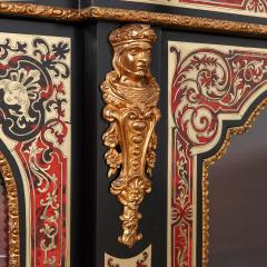 Druce Co Victorian Boulle and ormolu mounted antique vitrine cabinet - 1569750
