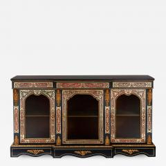 Druce Co Victorian Boulle and ormolu mounted antique vitrine cabinet - 1572689