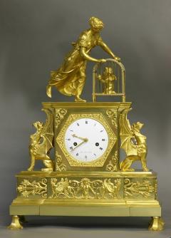 Dubuc Aine Paris c 1810 French Ormolu Mantle Clock - 1184069