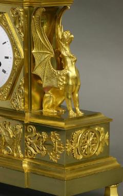 Dubuc Aine Paris c 1810 French Ormolu Mantle Clock - 1184082