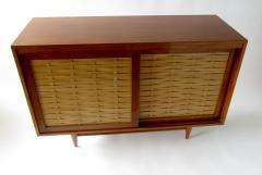 Dunbar American Modern Walnut and Birch 2 Door Woven Front Cabinet Dunbar - 1179491
