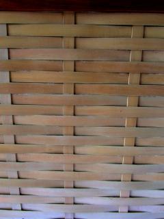 Dunbar American Modern Walnut and Birch 2 Door Woven Front Cabinet Dunbar - 1179492