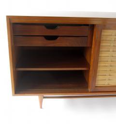 Dunbar American Modern Walnut and Birch 2 Door Woven Front Cabinet Dunbar - 1179494
