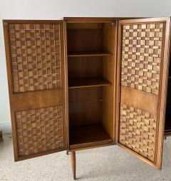Dunbar American Modern Woven Front 3 Door Cabinet Cabinet Dunbar - 1702434