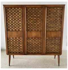 Dunbar American Modern Woven Front 3 Door Cabinet Cabinet Dunbar - 1702435