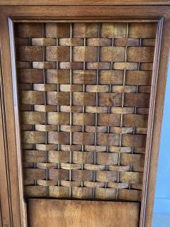 Dunbar American Modern Woven Front 3 Door Cabinet Cabinet Dunbar - 1702436