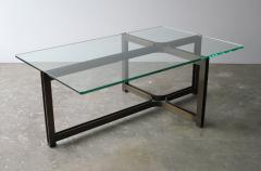 Dunbar Dunbar Coffee Table by Tom Lopinski in Oil Rubbed Bronze and Glass - 1846996