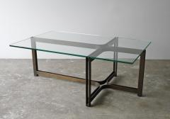 Dunbar Dunbar Coffee Table by Tom Lopinski in Oil Rubbed Bronze and Glass - 1846999