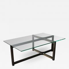 Dunbar Dunbar Coffee Table by Tom Lopinski in Oil Rubbed Bronze and Glass - 1848293