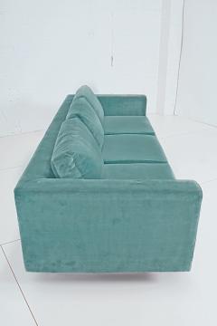 Dunbar Dunbar Velvet Tuxedo Sofa on Chrome Base Edward Wormley 1960s - 1316138