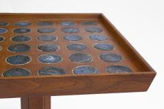 Dunbar Edward Wormley Janus Occasional Tables with Natzler Tiles for Dunbar in Walnut - 1664162
