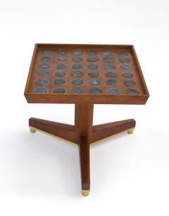 Dunbar Edward Wormley Janus Occasional Tables with Natzler Tiles for Dunbar in Walnut - 1664166
