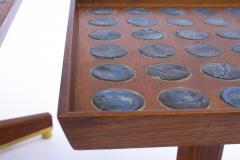 Dunbar Edward Wormley Janus Occasional Tables with Natzler Tiles for Dunbar in Walnut - 1664169