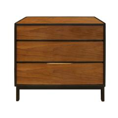 Dunbar Edward Wormley Pair of Bedside Tables Chests in Teak and Mahogany 1950s signed  - 1092168