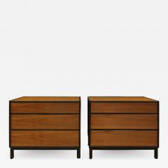 Dunbar Edward Wormley Pair of Bedside Tables Chests in Teak and Mahogany 1950s signed  - 1092514