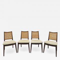 Dunbar Edward Wormley Set of 4 Dining Game Chairs in Mahogany 1963 Signed  - 1627501