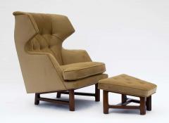 Dunbar Edward Wormley for Dunbar Janus Wing Back Lounge Chair Ottoman Model 5761 - 2096681