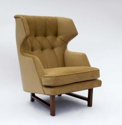 Dunbar Edward Wormley for Dunbar Janus Wing Back Lounge Chair Ottoman Model 5761 - 2096682