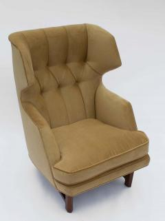 Dunbar Edward Wormley for Dunbar Janus Wing Back Lounge Chair Ottoman Model 5761 - 2096684
