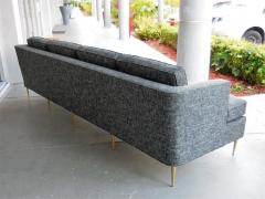 Dunbar Mid Century Dunbar Style Sofa with Brass Legs - 598163