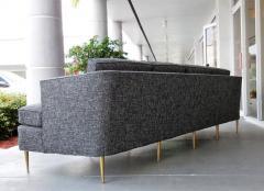 Dunbar Mid Century Dunbar Style Sofa with Brass Legs - 598164