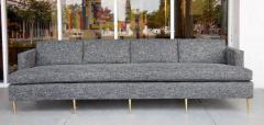 Dunbar Mid Century Dunbar Style Sofa with Brass Legs - 598165