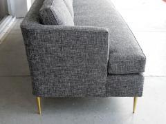Dunbar Mid Century Dunbar Style Sofa with Brass Legs - 598166