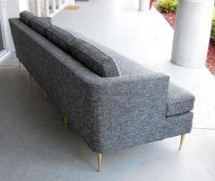 Dunbar Mid Century Dunbar Style Sofa with Brass Legs - 598167