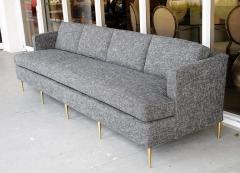 Dunbar Mid Century Dunbar Style Sofa with Brass Legs - 598168