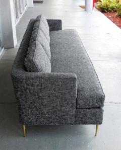Dunbar Mid Century Dunbar Style Sofa with Brass Legs - 598169