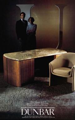 Dunbar Pair of 1970s Sculptural Dunbar Chairs in Ivory Boucl  - 2014412