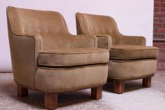 Dunbar Pair of Lounge Chairs in Mahogany and Velvet by Edward Wormley for Dunbar - 1208000