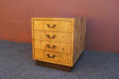 Dunbar Small Olive Burlwood Chest of Drawers by Dunbar - 1045017