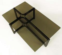 Dunbar Tom Lopinski for Dunbar Bronze Rosewood and Smoked Glass Coffee Table - 267217