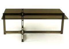 Dunbar Tom Lopinski for Dunbar Bronze Rosewood and Smoked Glass Coffee Table - 267218