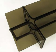 Dunbar Tom Lopinski for Dunbar Bronze Rosewood and Smoked Glass Coffee Table - 267219