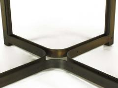 Dunbar Tom Lopinski for Dunbar Bronze Rosewood and Smoked Glass Coffee Table - 267220